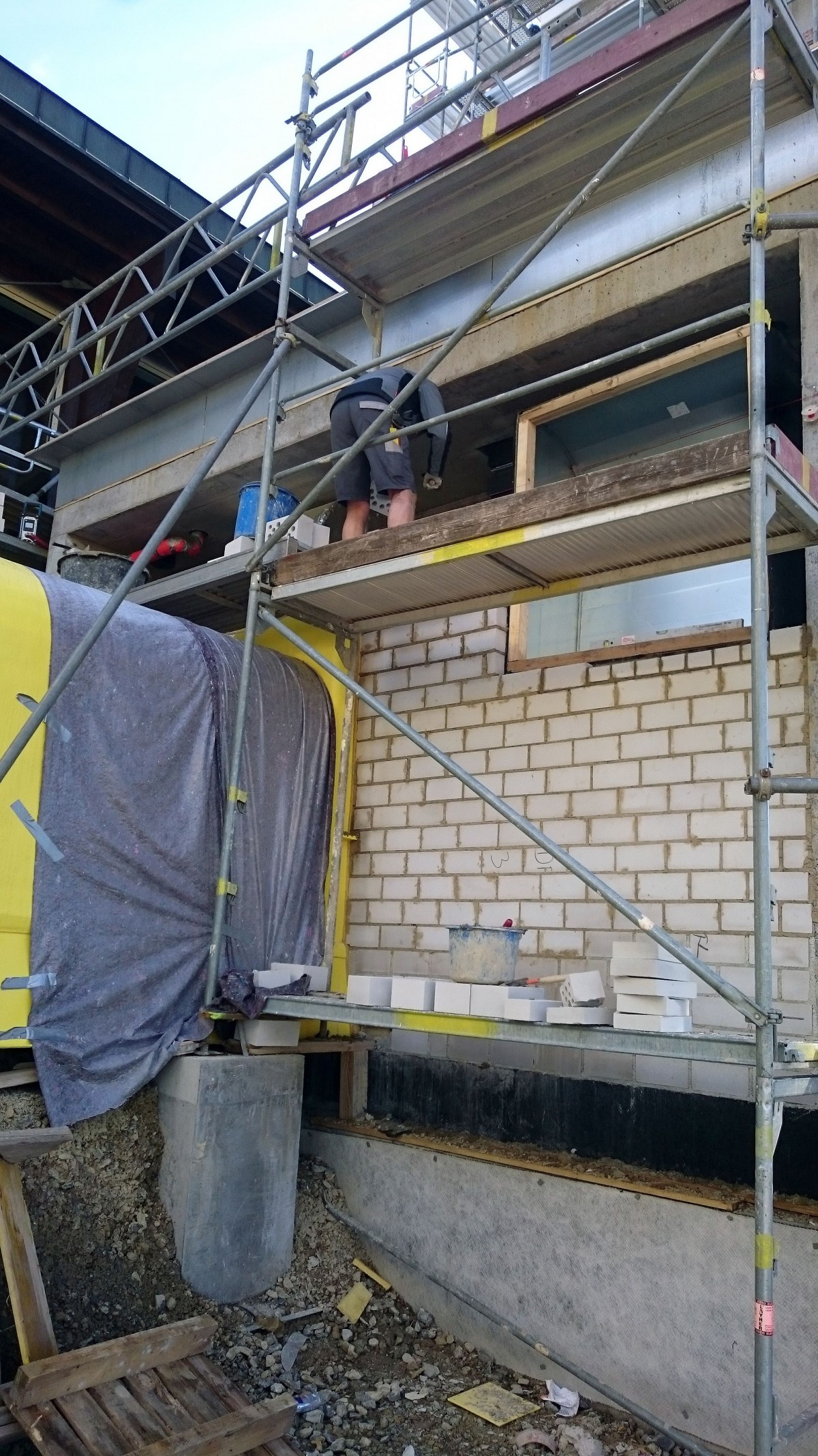 panorama-bad freudenstadt | rutschenmontage und mauerwerk, Hause ideen